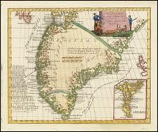 Polar Maps and Atlantic Ocean Map By Franz Johann Joseph von Reilly
