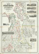 Washington Map By Edgar M. Morgan / Britton & Rey