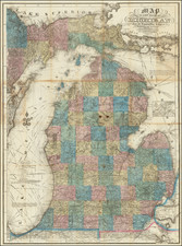 Michigan Map By John Farmer