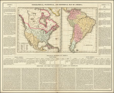 North America, South America and America Map By Henry Charles Carey  &  Isaac Lea
