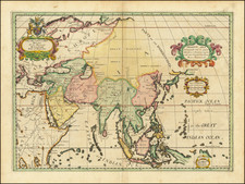 Asia Map By Edward Wells