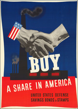 United States, World War II and Travel Posters Map By U.S. Government Printing Office / John Carlton Atherton