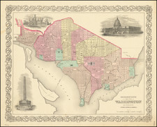 Washington, D.C. Map By Joseph Hutchins Colton