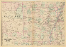 Arkansas and Oklahoma & Indian Territory Map By Asher / Adams