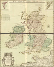 British Isles Map By Louis Charles Desnos
