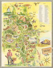 South Dakota and Pictorial Maps Map By Dean Nauman