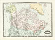 Alaska and Canada Map By F.A. Garnier