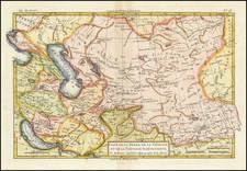 Central Asia & Caucasus and Persia & Iraq Map By Rigobert Bonne