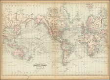 World Map By Asher  &  Adams