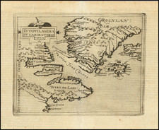 Iceland and Eastern Canada Map By Johannes Matalius Metellus