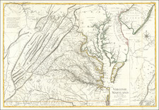 Mid-Atlantic, Maryland, Delaware, Southeast and Virginia Map By Georges Louis Le Rouge