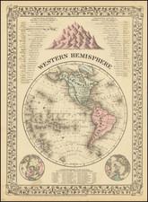 Western Hemisphere Map By Samuel Augustus Mitchell Jr.