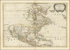 Amerique Septentrionale . . .  1650 By Nicolas Sanson