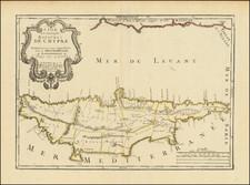 Cyprus Map By Pierre Moullart-Sanson
