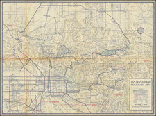 California and Other California Cities Map By Automobile Club of Southern California