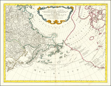 Alaska, Russia in Asia and Canada Map By Paolo Santini