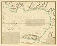 Gibraltar Map By Jean Lattré