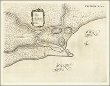 West Africa Map By Johannes Blaeu / Georg Marcgraf