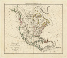 North America Map By Charles Francois Delamarche