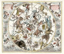 World, Curiosities and Celestial Maps Map By Andreas Cellarius / Valk & Schenk