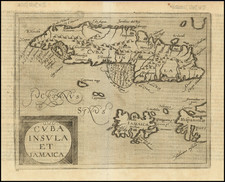 Cuba, Jamaica and Other Islands Map By Johannes Matalius Metellus