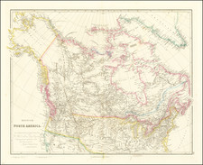 Polar Maps, Rocky Mountains, Alaska, Canada and Western Canada Map By John Arrowsmith