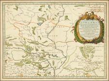 Russia and Ukraine Map By Nicolas Sanson