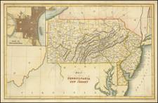 New Jersey, Pennsylvania and Philadelphia Map By Hinton, Simpkin & Marshall