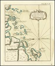 China and Hong Kong Map By Jacques Nicolas Bellin