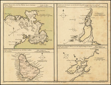 Other Islands, Central America and Colombia Map By Philippe Buache