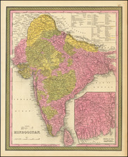 India Map By Samuel Augustus Mitchell