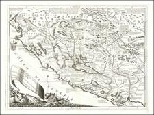 Croatia & Slovenia, Bosnia & Herzegovina, Serbia & Montenegro and Albania, Kosovo, Macedonia Map By Vincenzo Maria Coronelli