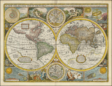 A New and Accurat Map of the World Drawne according to ye truest Descriptions latest Discoveries & best observations yt have beene made by English or Strangers. 1651.  By John Speed