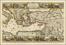 Mediterranean, Holy Land, Turkey & Asia Minor and Greece Map By Nicolaes Visscher I