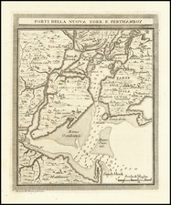 New York City, New York State and New Jersey Map By Gazzetiere Americano