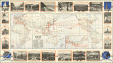 World and Pictorial Maps Map By Poole Brothers