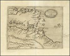 Caribbean, Hispaniola, Puerto Rico, Virgin Islands, Other Islands and Venezuela Map By Johannes Matalius Metellus