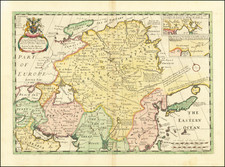 China, Central Asia & Caucasus and Russia in Asia Map By Edward Wells