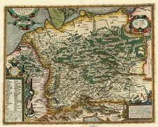Europe, France, Germany, Poland and Baltic Countries Map By Abraham Ortelius