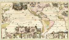 World, Atlantic Ocean, North America, South America, Pacific, California and America Map By