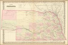 Nebraska Map By G.W.  & C.B. Colton