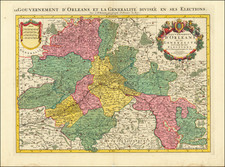 France Map By Pierre Mortier