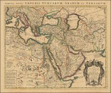 Turkey, Central Asia & Caucasus, Middle East and Turkey & Asia Minor Map By Johannes Covens  &  Cornelis Mortier
