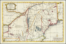 New England, New Hampshire, Vermont and New York State Map By Gentleman's Magazine