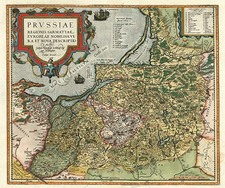 Europe, Germany, Poland and Baltic Countries Map By Abraham Ortelius