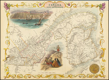 Canada and Eastern Canada Map By John Tallis