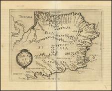 Brazil Map By Johannes Matalius Metellus