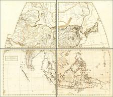 Asia, China, Southeast Asia, Australia & Oceania and Australia Map By Giovanni Battista Nicolosi