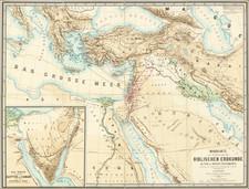 Mediterranean and Holy Land Map By Heinrich Kiepert