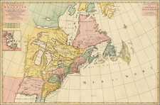 United States, North America and Canada Map By Pierre Mortier